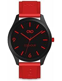 55264254c55a Colhour Watches - Reloj de Pulsera Unisex con Correa de Silicona Vulcano  Red  18 (