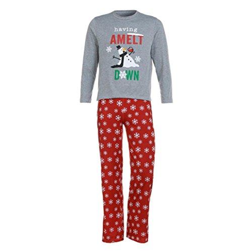Schneeflocke Hose Pyjama Set Vater Mutter Baby Familie farblich passende Home Kleidung Weihnachten Geschenk, Grey (Dad) (Xmas Pjs Kinder)