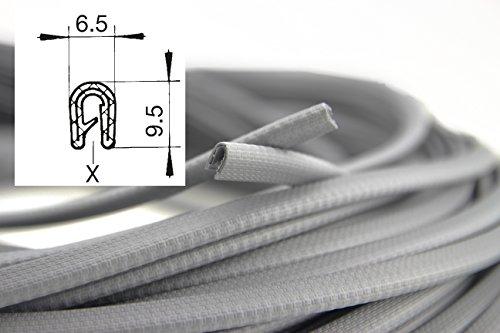 KS1-2G Kantenschutzprofil von SMI-Kantenschutzprofi - PVC Gummi Klemmprofil mit Stahleinlage - Kantenschutz - Grau - einfache Montage, selbstklemmend ohne Kleber Klemmbereich 1-2 mm (0,1 m, grau)