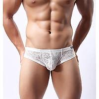fdfgvdf Herren Sexy Solid Slip Unterwäsche, Mesh-Viskose