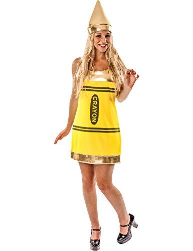 Gruppe Kostüme Fancy Lustige Dress (Dame Gelb Kreide Neuheit Lustige Polterabend Verkleidung Karneval Kostüm)
