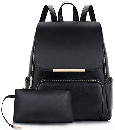 ShopyVid ® Women's PU Leather Stylish and Trending Backpack for College Office Travel Purse (Black) Price in India
