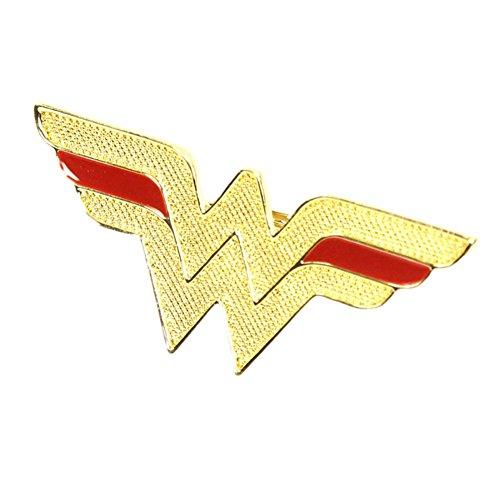 Tono Ufficiale Oro Wonder Woman Classic Logo Moda doppio anello
