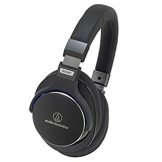 Audio-Technica ATH-MSR7 SonicPro Kopfhörer mit abnehmbarem Kabel und Mikrofon ,Schwarz