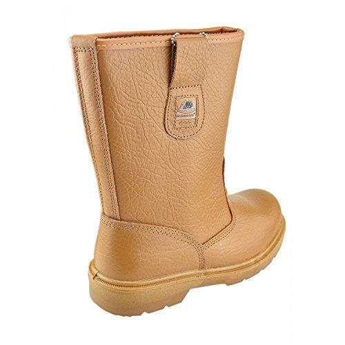 Chelsea Mel Calçado De Homens Trabalho Toe Atrair Segurança Bases Negociante Ankle Boots Aço Chutar Deslizamento Pwaqvad