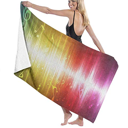 xcvgcxcvasda Serviette de bain, Abstract Glowing Music Note Personalized Custom Women Men Quick Dry Lightweight Beach & Bath Blanket Great for Beach Trips, Pool, Swimming and Camping 31