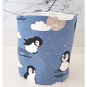 Hundeloop Loop Schal Hund Pinguin weiß 29/32 Handarbeit Handmade