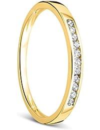 e75ba20b6110 Orovi anillo de mujer compromiso aniversario 0.10 Quilates diamantes en oro  amarillo 9 kilates ley