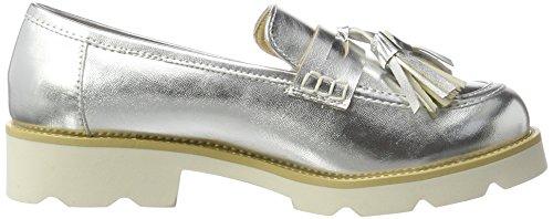Xti Silver Metallic Ladies Shoes ., Mocassins (loafers) femme Argenté