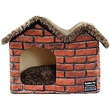 Caseta Impermeable para Mascotas, Refugio para Perros, Gatos, Interiores, Exteriores, de