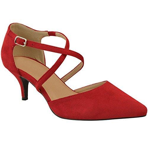 Fashion Thirsty Sandales à Petits Talons - Lanières - Mariage/Soirée - Femm