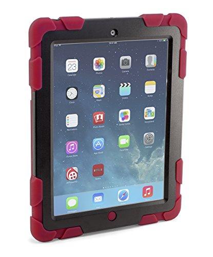 Devicewear Keep Safe 360drehbar Ständer Robuste Heavy Duty Case mit Displayschutzfolie für iPad 2/3/4(ksr-ip4-red)