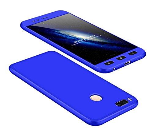 Funda Xiaomi Mi A1/Mi 5 X 360 Grados Azul Ultra Delgado Todo Incluido Caja del teléfono de la Protección 3 en 1 PC Case JOYTAG-Azul
