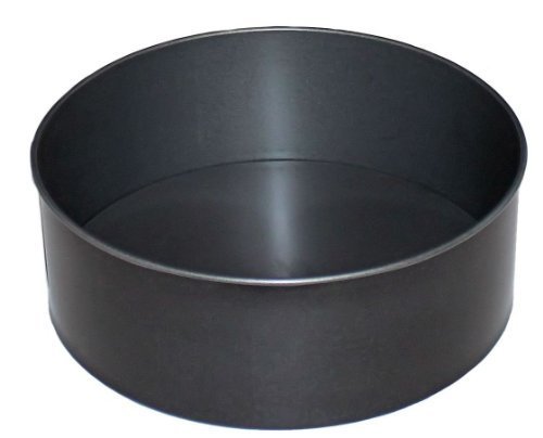 12 Inch Round Cake Tin, Deep, 30cm, British Made with GlideX Non Stick by Lets Cook Cookware