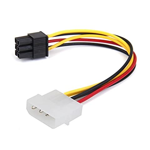 SODIAL(R) Kabel (R) 4-Pin Stecker zu 6-Pin Buchse Stromkabel fuer PCIe PCI Express Adapter weiblich