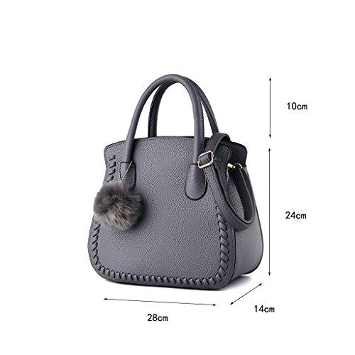 CLOTHES- Versione coreana dei sacchetti delle donne del sacchetto Nuovi sacchetti di spalla semplici Sacchetto selvaggio Sacchetto del messaggero Sacchetti delle signore mini ( Colore : Nero ) Grigio