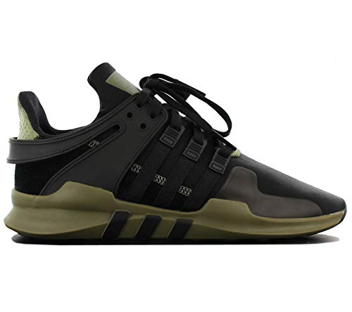 equipment support adv adidas Originals Mens Sneakers Equipment Support ADV Trainers Fashioin Shoes Black/Cargo New CM7415 (44 EU)