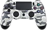 Wireless Controller, Gaming Controller Gamepad Joystick with Audio Port/LED Light/6-Axis/Dual Vibration/Turbo/
