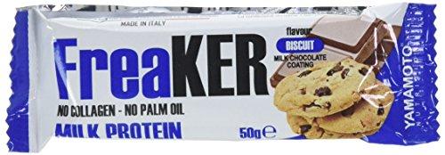FreaKER barrette proteiche senza aggiunta di grassi idrogenati olio di palma collagene idrolizzato e proteine della soia