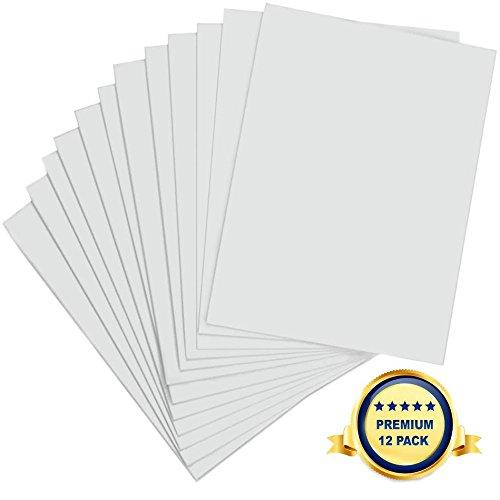 Schaumplatte 750 x 500 x 5mm - Premium 12 Stück - Weiße Leichtschaumplatte, Doppelseitige, leichte Schaumstoffplatte für Handwerk, Gestaltung, Kunst, Anzeige, Präsentation und Schulprojekte (Weiß-platten Und Navy)