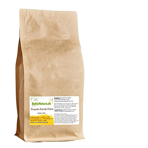 Propolispulver frisch, gereinigt(100g) ohne Wachsanteil, Propolis Extrakt Pulver, Flavonoidgehalt: 9,6%