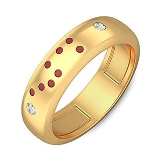 BlueStone 14k (585) Yellow Gold and Diamond Tony Ring