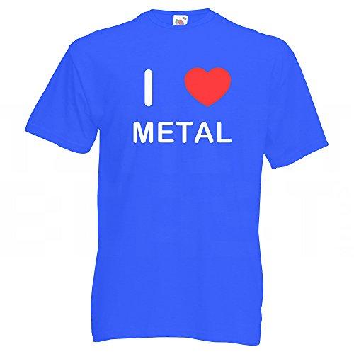 I Love Metal - T-Shirt Blau