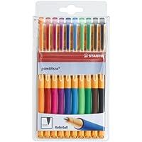 Stabilo 1099/10 PointVisco Penna Roller Gel, 10 Colori Assortiti - 1099 Busta
