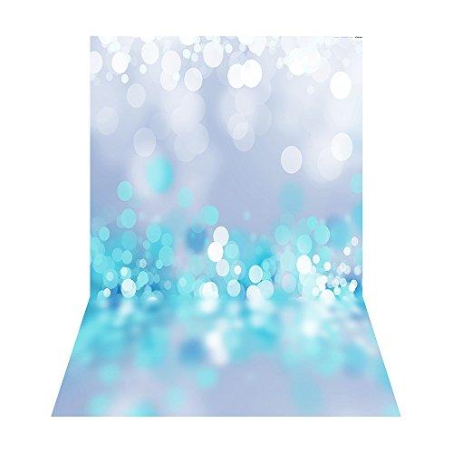 Andoer 1.5 * 2.1m / 5 * 6.9ft Fotografie-Hintergrund Digital-gedruckte blaue glänzende Punkt-Muster für Kind-Kinder Baby Neugeborenes Porträt-Studio-Fotografie (Digitale Fotografie Hintergrund)