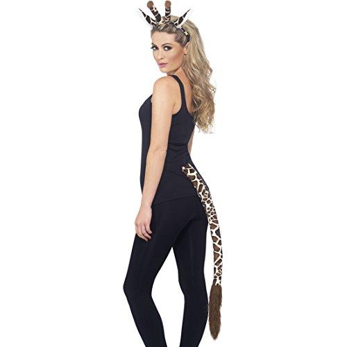 Giraffen Schwanz Ohren Set Und (Giraffenkostüm Set Giraffen Kostüm Kit Giraffenohren und Schwanz Giraffenschwanz und Ohren Giraffe Tierkostüm Zoo Tier)