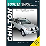 Chilton Toyota 4Runner, 2003 thru 2009 Repair Manual (68615)