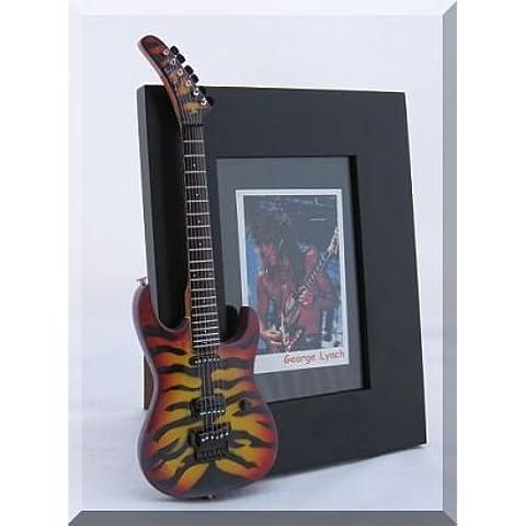 GEORGE LYNCH miniatura Marco de la guitarra Imagen TIGER SUNBURST DOKKEN