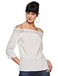 2f1b6613506 Miss Chase Womens White Off Shoulder Top