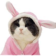 DELIFUR Disfraz de Perro de Navidad para Halloween o Conejo, Sudadera con Capucha de Forro