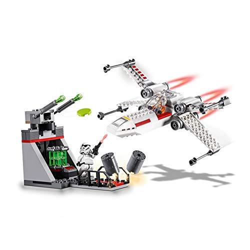 41w7NO72M7L - LEGO Star Wars - Asalto a la Trinchera del Caza Estelar Ala-X, juguete de construcción de nave espacial de La Guerra de las Galaxias (75235)