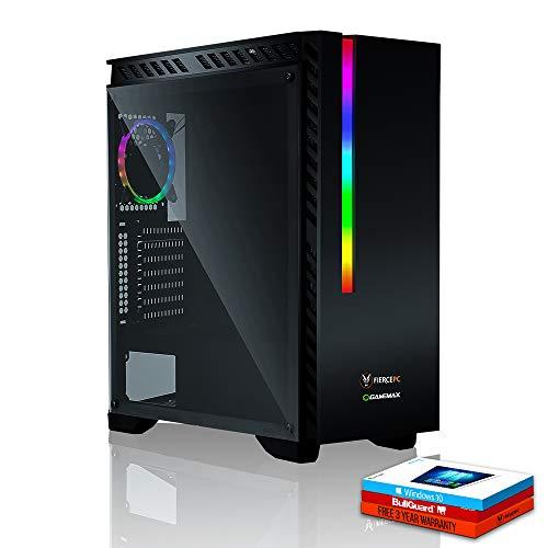 Fierce Panther High-End RGB Gaming PC - Schnell 3.9GHz Hex-Core AMD Ryzen 5 2600, 1TB Festplatte, 16GB 2666MHz, NVIDIA GeForce GTX 1060 3GB, Windows 10 installiert 889353