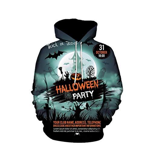 MasteriOne Herren Groß Groß 3D Kapuzenpullover Hoodie Halloween Cosplay Sweatshirt Hooded Sweat Einzigartig Galaxie Pullover