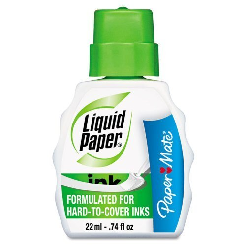 liquid-paper-pen-and-ink-correction-fluid-22-ml-bottle-white-7470115-6-packs-by-sanford