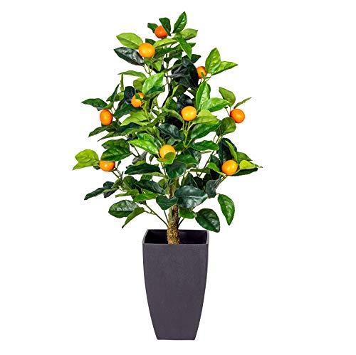 Gasper Orangenbaum Künstliche Pflanze Citrus Baum 70 cm im Topf - 3319006-00