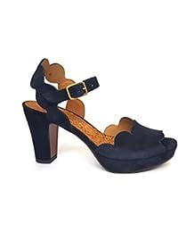 Chie Mihara Damen jacare30 Geschlossene Sandalen, Blau (Ante Acqua), 41 EU