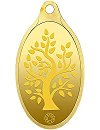 Muthoot Gold Bullion Corporation 24k (999.9) Yellow Gold Bodhi Tree Pendant - 2 Gm