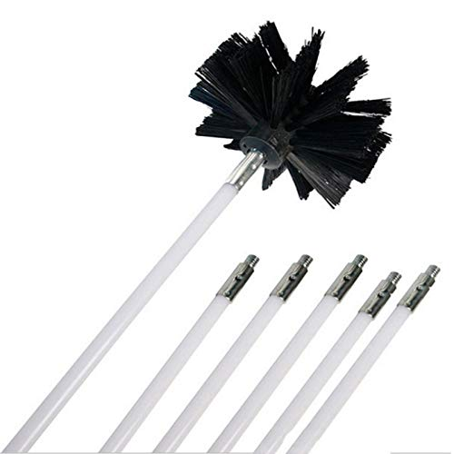 FGGHNN Brush with 6pcs Long Handle ble Pipe Rods for Chimney Kettle House Cleaner Cleaning Tool Kit - Tool House Kit