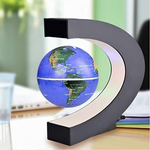 ExcLent C-Form Led Weltkarte Dekoration Magnetschwebebahn Floating Globe - Gold