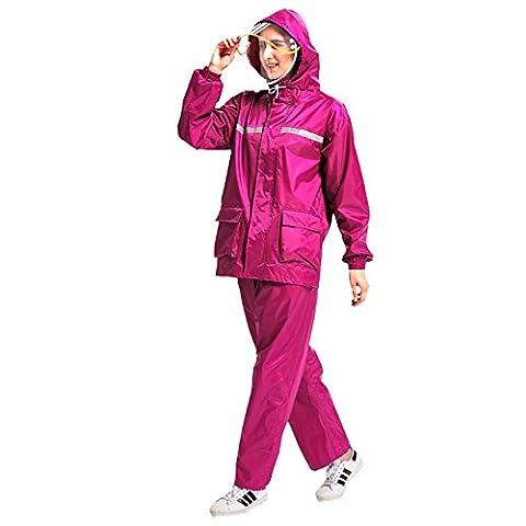 Global- Polyester Raincoat Pantalons Pluie Ensemble Split, Hommes Et Femmes Adultes Marcher Sur Pied Épaississement Augmenter PVC Imperméable Revêtement Poncho Extérieur ( Couleur : #3 , taille : M )