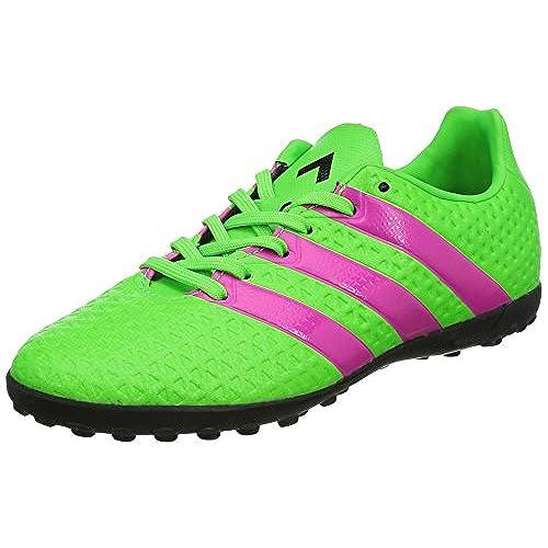 adidas Ace 16.3 Primemesh FG/AG, Chaussures de Football Homme - Vert - Vert (Solar Green/Shock Pink/Core Black), 40 2/3 EU