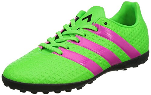 adidas Ace 16.4 TF, Unisex-Kinder Fußballschuhe, Grün (Solar Green/Shock Pink/Core Black), 35 EU (2.5 Kinder UK) (Core 2.5)