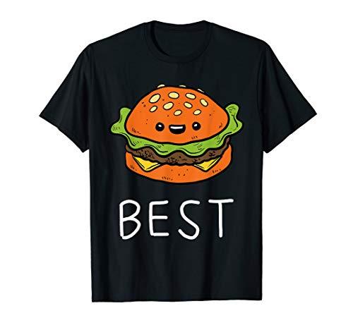 Kostüm Tochter Besten Vater - Vater Sohn T-Shirt Partnerlook Best Friends Burger Shirt