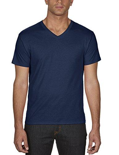 anvil Herren Lightweight V-Neck T-Shirt / 362, Einfarbig, Gr. X-Large, Blau (Navy 32) -