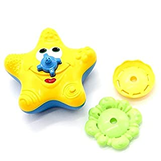 UCTOP STORE Starfish Bath Toy Baby Bath Electronic Rotating Water Fountain Bathtime Toy for Kid Gift