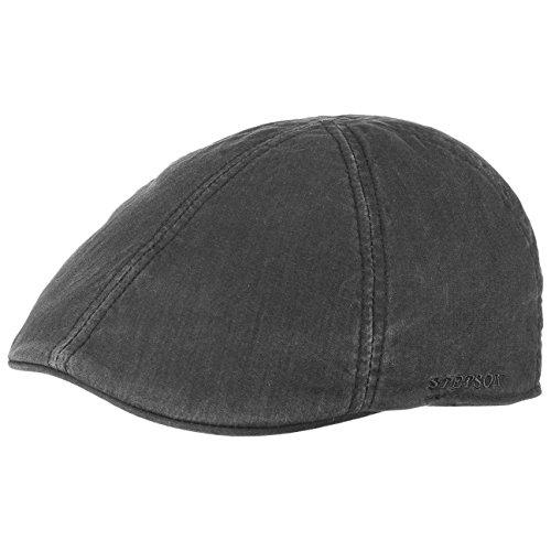 ff2791d173 Stetson Texas Coppola berretto piatto cappello cotone nero ...